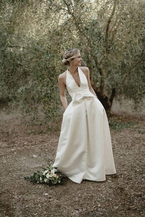 Bride In Halterneck Jesus Peiro Dress