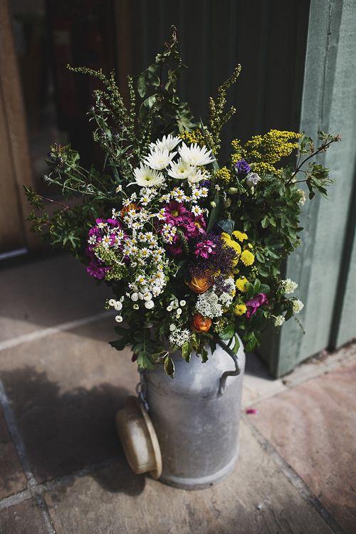 Wild Flowers in a Milk Urn