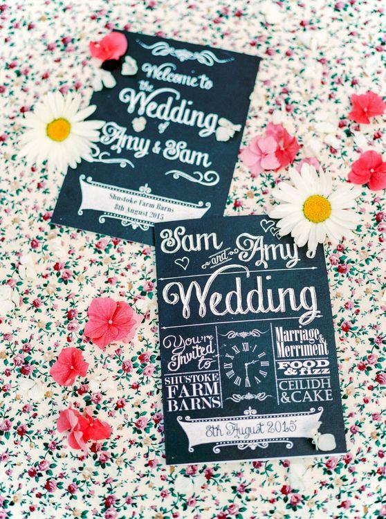 Chalkboard Wedding Stationery