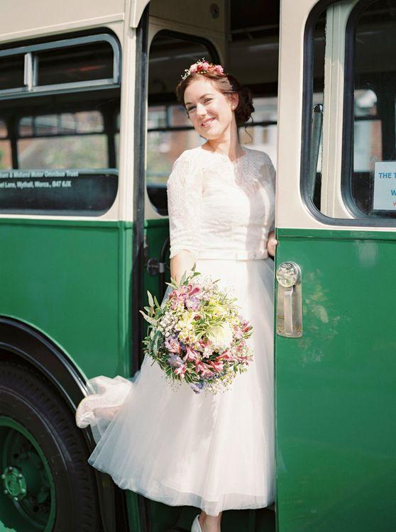 Bride in Ta Length Wedding Dress