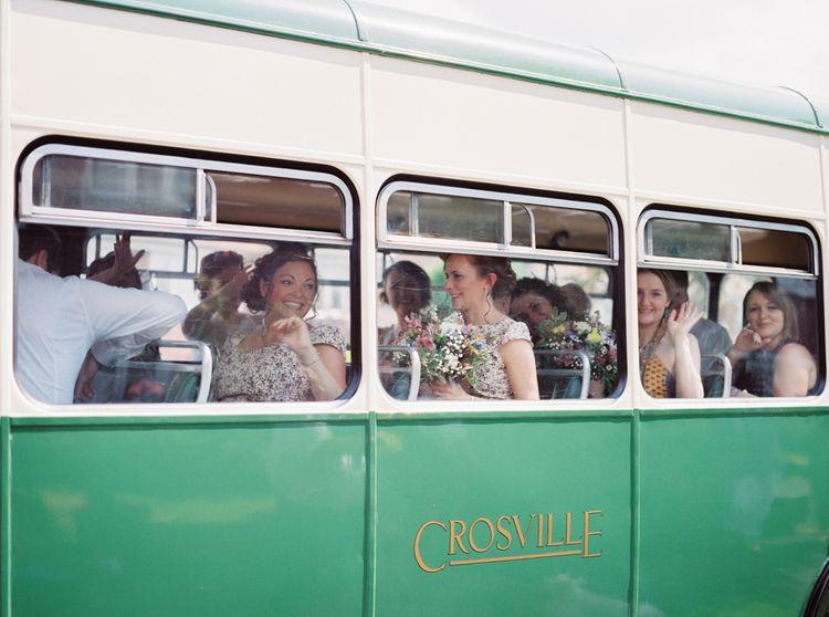 Vintage Bus Wedding Transport