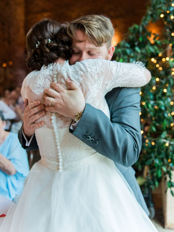 Bride & Groom Hug