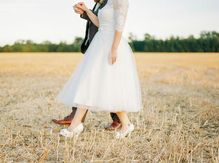 Bride & Groom Field Portrait