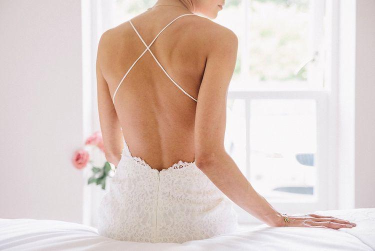 Spagetti Strap Wedding Dress