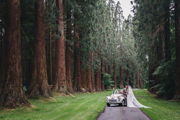 Bride & Groom Forest Portrait