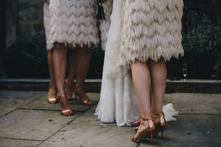 The Finery Tassel Skirt