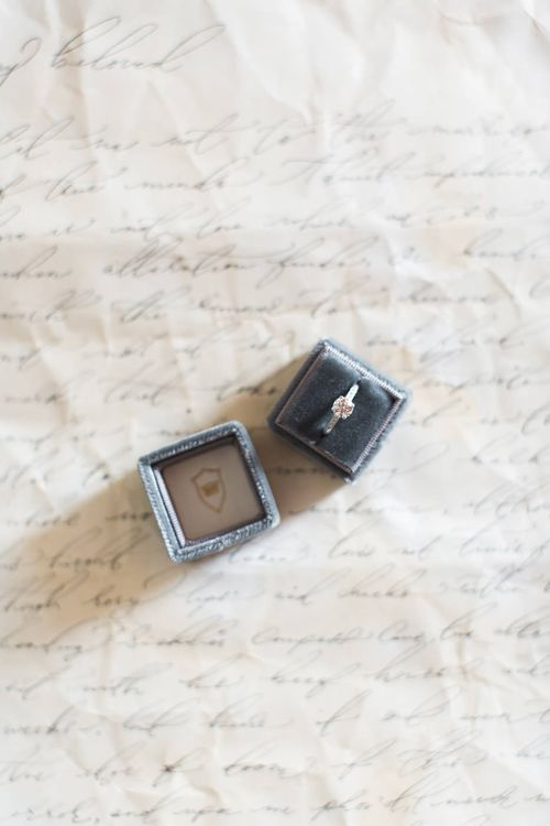 Ring Box With Vintage Wedding Ring