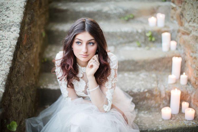 Villa Montanare Elegant Italian Wedding Venue Tuscany With Fine Art Styling By The Wedding Stylist With Dresses By Katya Katya London & Cecelina Photography