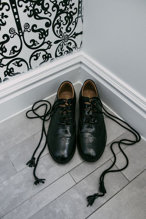 Grooms Shoes | Stylish Wedding at the M Building in the Miami Art District | Sara Lobla Photography
