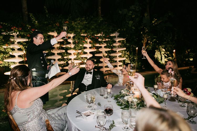 Wedding Speeches | Stylish Wedding at the M Building in the Miami Art District | Sara Lobla Photography