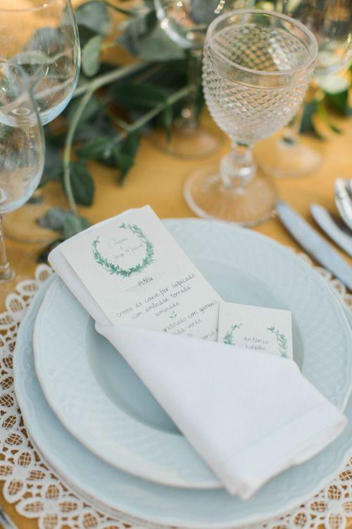 Elegant Place Setting with Menu Card