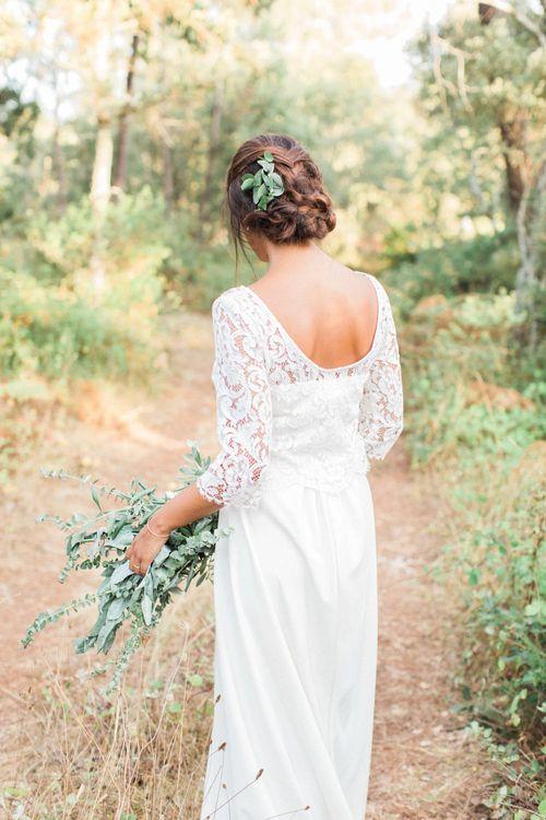 Bride in Lace UHMA Store Wedding Dress