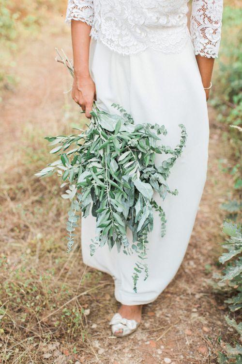 Greenery Foliage Wedding Bouquet