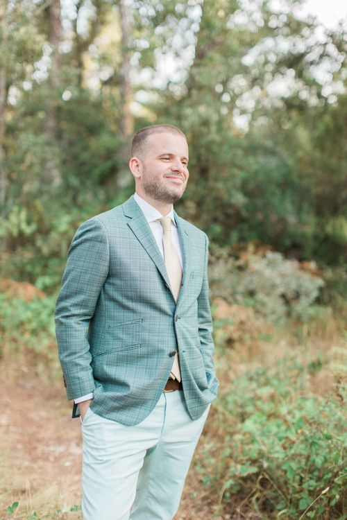 Groom in Non Public Wedding Suit