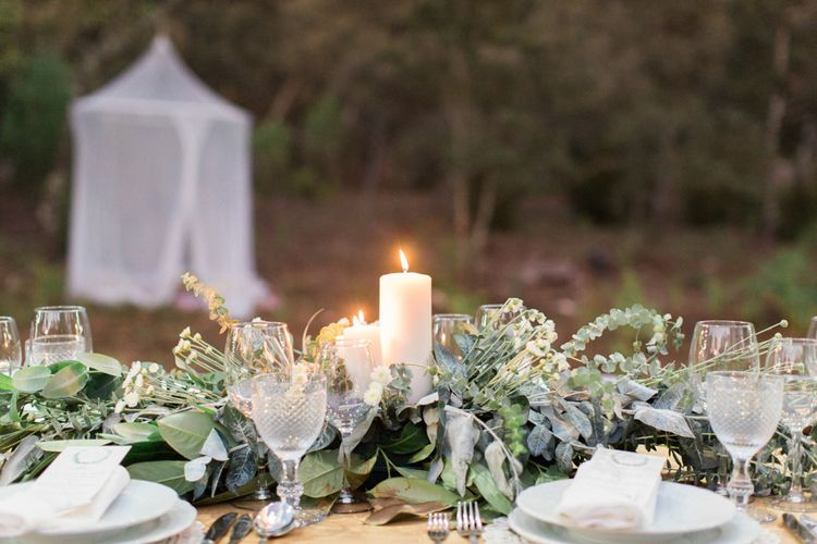 Greenery Foliage Top Table Floral Arrangement
