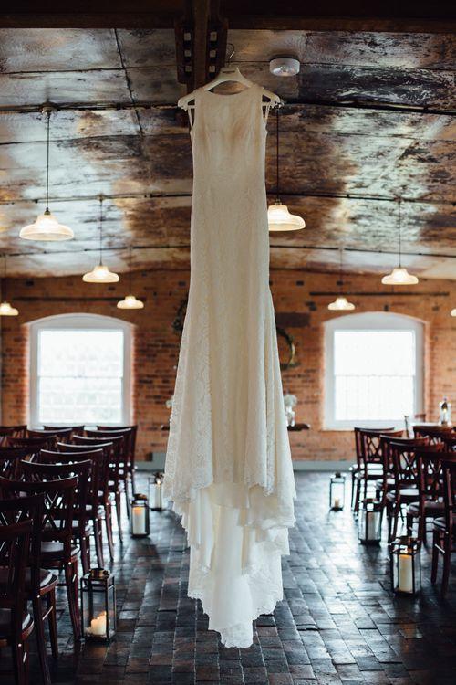 Pronovias Ornani Wedding Dress | Industrial Wedding at The West Mill Venue | Sarah Gray Photography