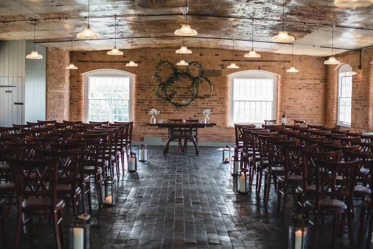 Aisle & Altar Style | Industrial Wedding at The West Mill Venue | Sarah Gray Photography