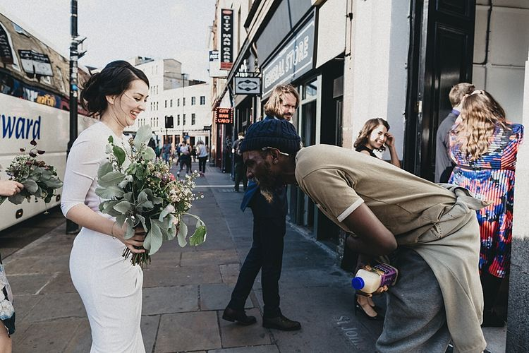 Stylish Bride in Givency Gown | London City Wedding | Jason Williams Photography