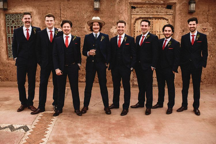 Groomsmen | Stylish Destination Wedding in Marrakesh | Andy Gaines Photography