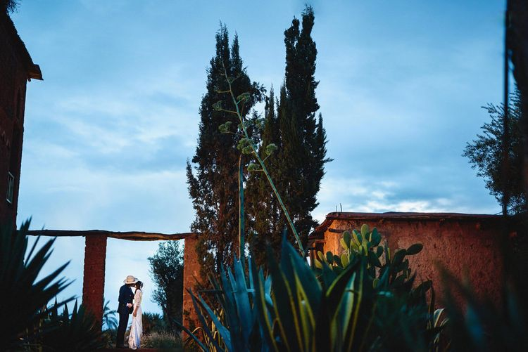 Bride in Bespoke Hermione de Paula Bridal Gown | Groom in Thomas Farthing | Stylish Destination Wedding in Marrakesh | Andy Gaines Photography