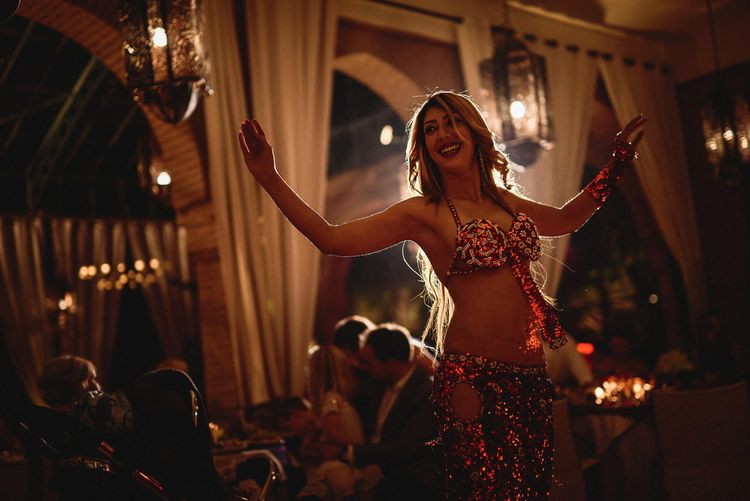 Belly Dancer | Stylish Destination Wedding in Marrakesh | Andy Gaines Photography