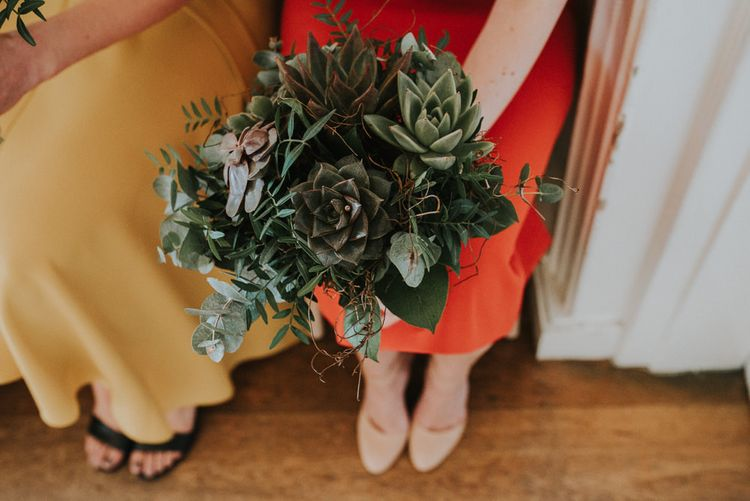 Intimate London Wedding With Succulent Bouquet At The Refinery With Bride In Catherine Deane And Images From Fern Edwards Photography
