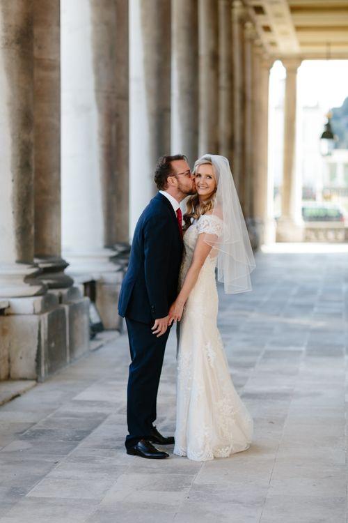Bride in Lace Eternity Bride Wedding Dress   Christine Wehrmeier Photography