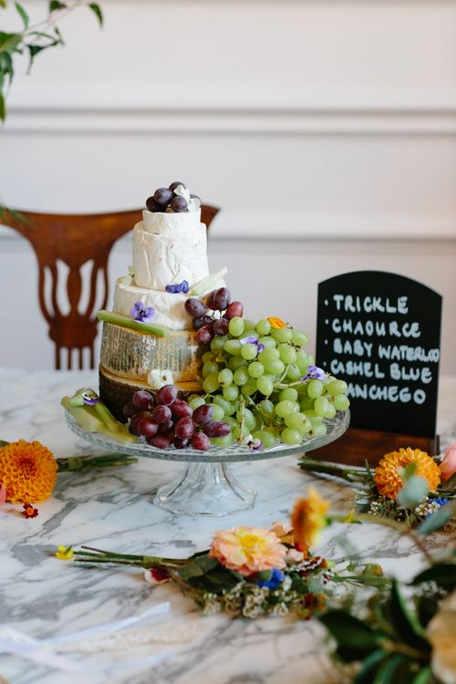 Cheese Tower Wedding Cake   The Roost London Wedding Venue   Christine Wehrmeier Photography