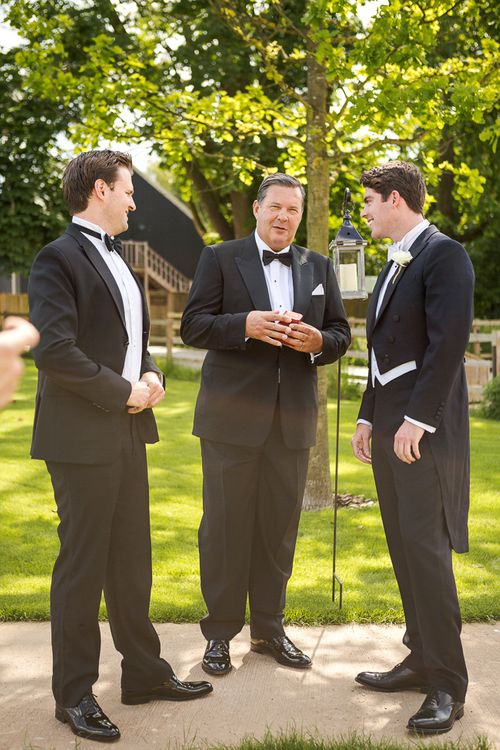 Groom in Black Tie Suit | Rustic Soho Farmhouse Ceremony with PapaKata Sperry Tent Greenery filled Reception | Marianne Taylor Photography | Will Warr Films