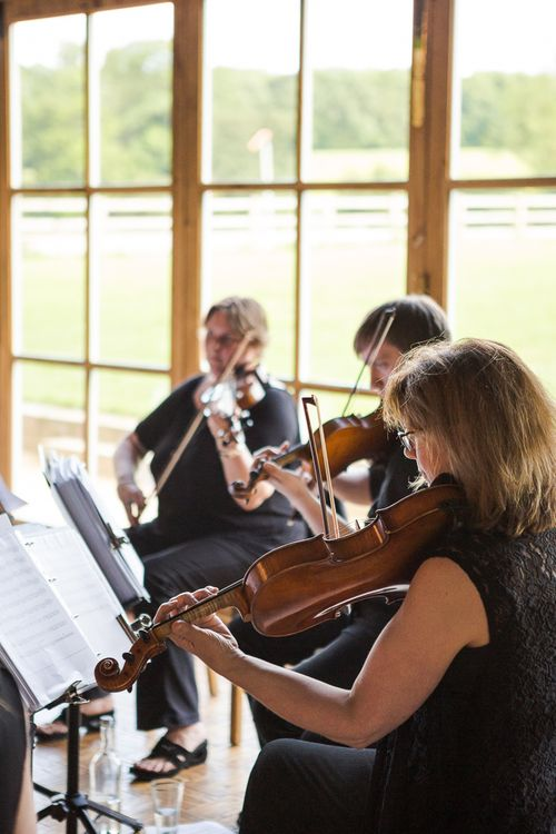 String Quartet | Rustic Soho Farmhouse Ceremony with PapaKata Sperry Tent Greenery filled Reception | Marianne Taylor Photography | Will Warr Films