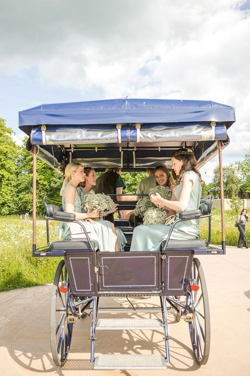 Horse and Carriage | Rustic Soho Farmhouse Ceremony with PapaKata Sperry Tent Greenery filled Reception | Marianne Taylor Photography | Will Warr Films