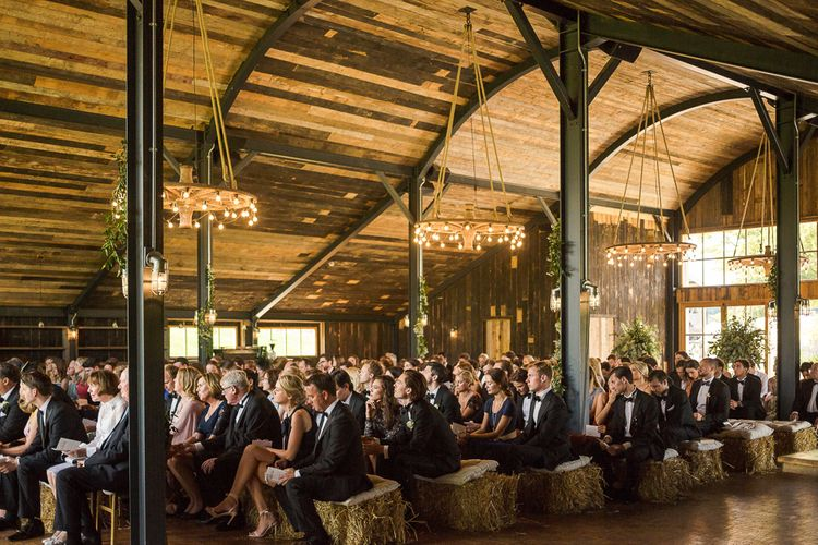 Rustic Soho Farmhouse Ceremony with PapaKata Sperry Tent Greenery filled Reception | Marianne Taylor Photography | Will Warr Films