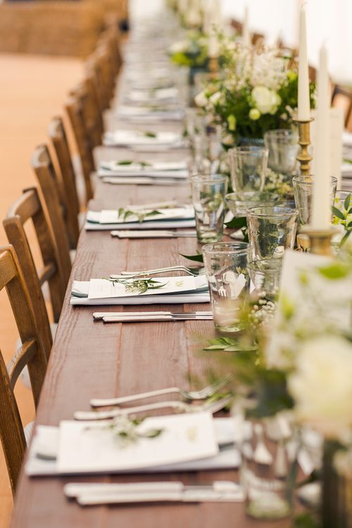 Greenery Tablescape | Rustic Soho Farmhouse Ceremony with PapaKata Sperry Tent Greenery filled Reception | Marianne Taylor Photography | Will Warr Films