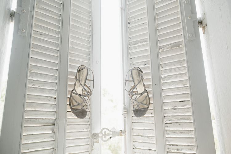 Silver Stuart Weitzman Sandals