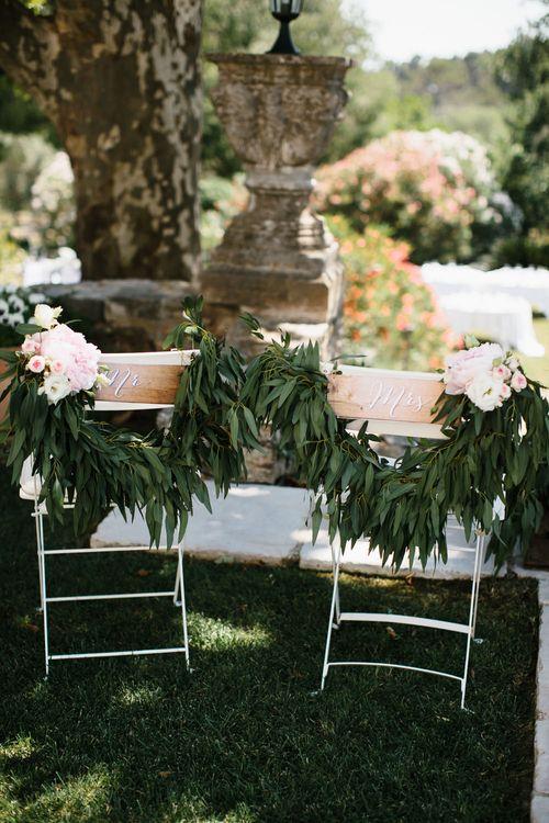 Floral Chair Back Decor