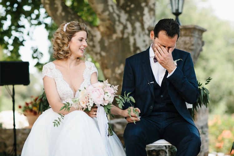 Emotional Groom During Wedding Ceremony