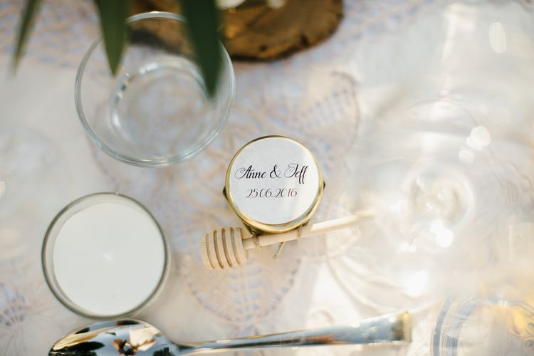 Personalised Honey Pot Wedding Favours