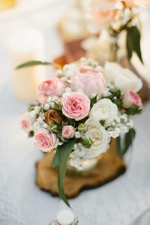 Pink Wedding Flowers Centrepiece