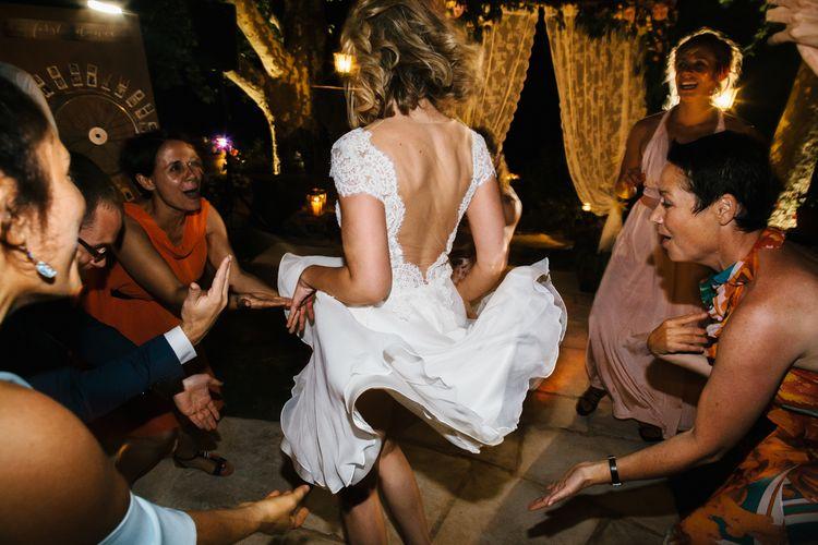 Bride in Bespoke Dress