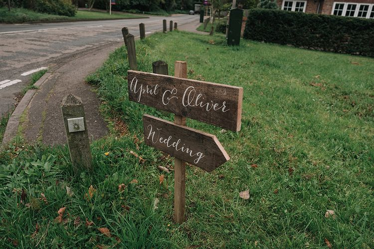 Wedding Sign | DIY Lord of the Rings Themed Wedding at Monks Barn in Maidenhead | Jason Mark Harris Photography | Cinematic Films By J