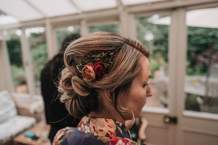 Bridesmaid Hair with Flowers | DIY Lord of the Rings Themed Wedding at Monks Barn in Maidenhead | Jason Mark Harris Photography | Cinematic Films By J