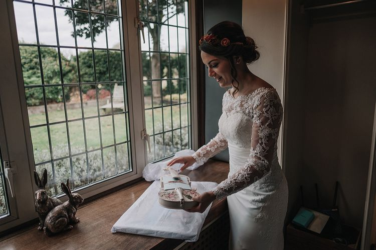 Bride in Lisa Donetti Adriana Gown | DIY Lord of the Rings Themed Wedding at Monks Barn in Maidenhead | Jason Mark Harris Photography | Cinematic Films By J