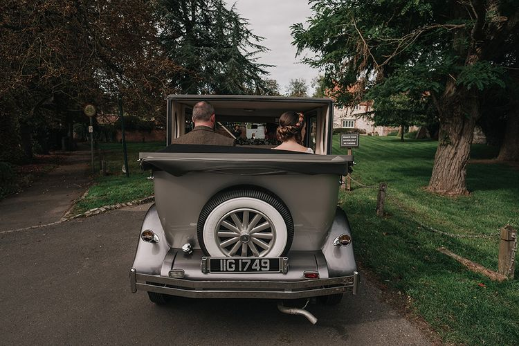 Vintage Wedding Car | DIY Lord of the Rings Themed Wedding at Monks Barn in Maidenhead | Jason Mark Harris Photography | Cinematic Films By J