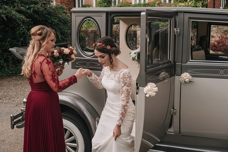 Bridal Entrance in Lisa Donetti Adriana Gown | DIY Lord of the Rings Themed Wedding at Monks Barn in Maidenhead | Jason Mark Harris Photography | Cinematic Films By J