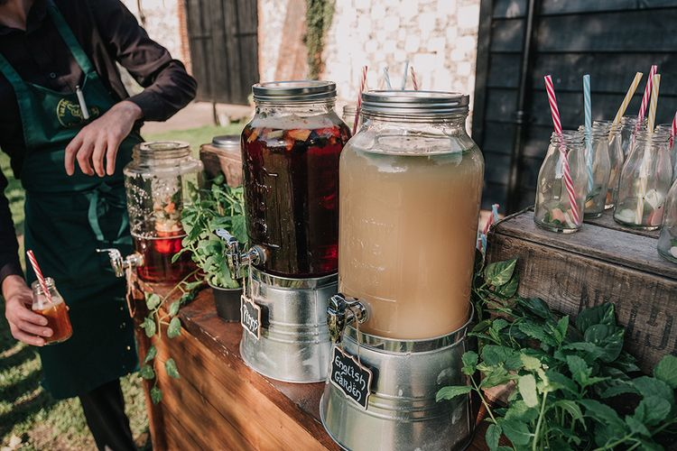 Drinks Dispenser | DIY Lord of the Rings Themed Wedding at Monks Barn in Maidenhead | Jason Mark Harris Photography | Cinematic Films By J