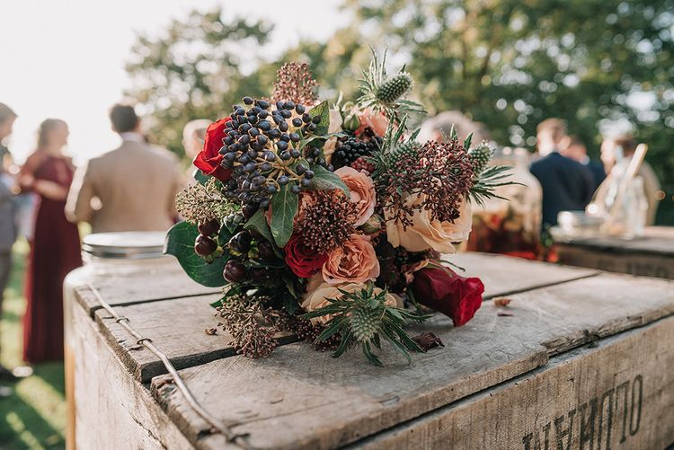 Red Bouquet | DIY Lord of the Rings Themed Wedding at Monks Barn in Maidenhead | Jason Mark Harris Photography | Cinematic Films By J