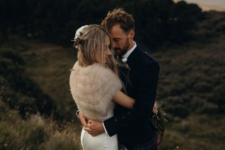 Outdoor Coastal Wedding at Ravensheugh Log Cabin in Scotland | Alpacas | MacGregor and MacDuff Kilts | Album Weddings Photography | Second Shooter Lovro Rozina