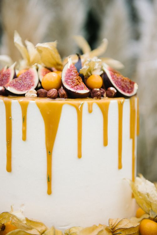 Salted Caramel Wedding Cake With Drip Icing
