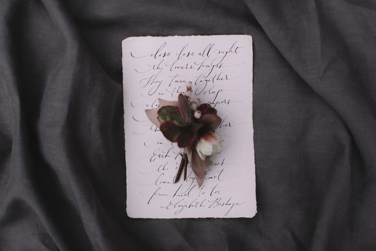 Rustic Button Hole For Wedding Day
