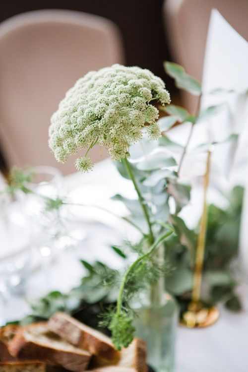 Wedding Flowers | Greenery, White & Gold Stylish Wedding at The Town Hall Hotel in London | Lucy Davenport Photography